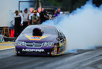 Aug. 5, 2011; Kent, WA, USA; NHRA pro stock driver Vincent Nobile during qualifying for the Northwest Nationals at Pacific Raceways. Mandatory Credit: Mark J. Rebilas-