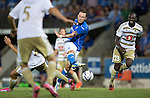 St Johnstone v FC Luzern...24.07.14  Europa League 2nd Round Qualifier<br /> Stevie May shoots at goal<br /> Picture by Graeme Hart.<br /> Copyright Perthshire Picture Agency<br /> Tel: 01738 623350  Mobile: 07990 594431