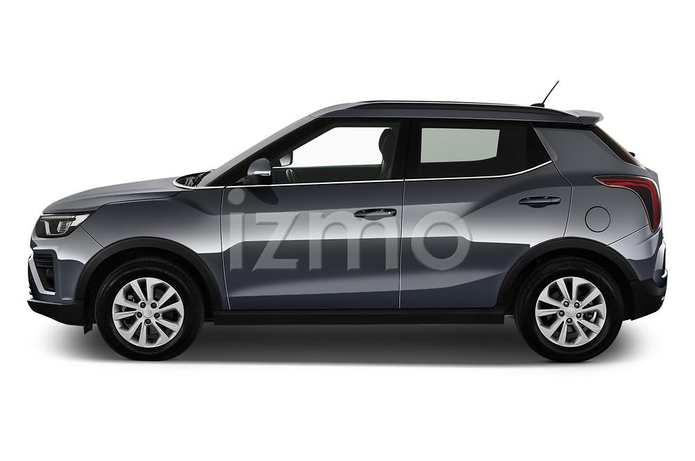 Car Driver side profile view of a 2020 Ssangyong Tivoli Quartz 5 Door SUV Side View