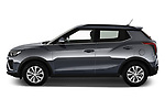 Car Driver side profile view of a 2020 Ssangyong Tivoli Quartz 5 Door SUV Side View