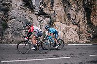 Thomas de Gendt (BEL/Lotto-Soudal) & Carlos Barbero (ESP/Movistar)<br /> <br /> 76th Paris-Nice 2018<br /> stage 6: Sisteron > Vence (198km)
