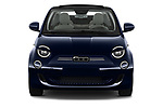 Car photography straight front view of a 2021 Fiat 500C La-Prima 2 Door Convertible Front View