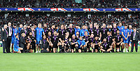 The All Blacks team and management after the 2019 Rugby World Cup bronze final match between New Zealand All Blacks and Wales at the Tokyo Stadium at the Tokyo Stadium in Tokyo, Japan on Friday, 1 November 2019. Photo: Steve Haag / stevehaagsports.com