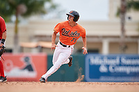 Baltimore Orioles T.J. Nichting (71) runs the bases during a Florida Instructional League game against the Boston Red Sox on October 8, 2018 at the Ed Smith Stadium in Sarasota, Florida.  (Mike Janes/Four Seam Images)