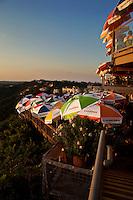 Warm sunset falls on Lake Travis Restaurant