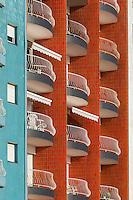 France, Pas-de-Calais (62), Côte d'Opale, Le Touquet : Immeubles du Front de mer//  France, Pas de Calais, Cote d'Opale (Opal Coast), Le Touquet: Waterfront buildings