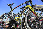 Bretagne-Seche Environnrmrnt team Look bikes on the team car at sign on before the start of the 113th edition of the Paris-Roubaix 2015 cycle race held over the cobbled roads of Northern France. 12th April 2015.<br /> Photo: Eoin Clarke www.newsfile.ie