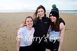 Maire O'Carroll, Stephanie Lawlor and Nicole O'Donovan enjoying a stroll on Banna Beach on Sunday.