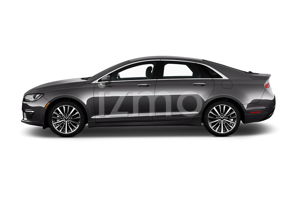 Car Driver side profile view of a 2020 Lincoln MKZ Standard 4 Door Sedan Side View