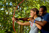 Photography of campers at YMCA Camp Thunderbird on Lake Wylie. Camp Thunderbird, located in Clover SC (York County, South Carolina) is just over the Carolina border from Charlotte, NC. It is a popular overnight camp that attracts youths from around the globe.