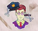 Illustration of man choosing between careers