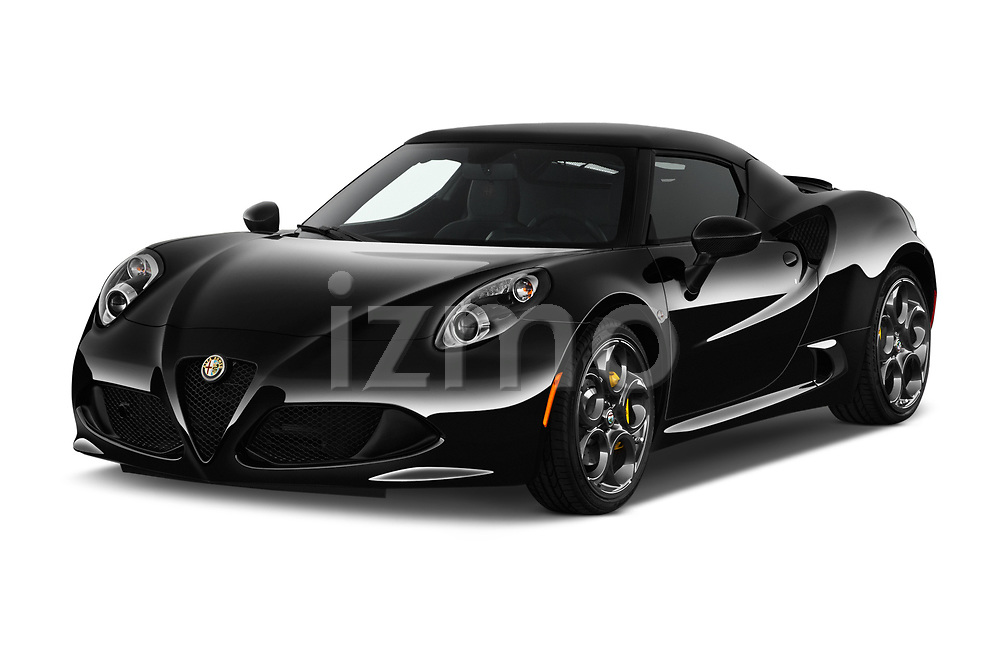 2018 Alfa Romeo 4C Base 2 Door Coupe angular front stock photos of front three quarter view