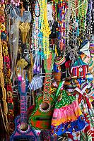 Willemstad, Curacao, Lesser Antilles.  Souvenir Rosaries, Small Guitars, Central Market.
