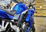 Interior large warehouse with Suzuki motorcycles