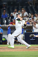 Kyle Jacobsen (20) of the East Team bats against the West Team during the Perfect Game All American Classic at Petco Park on August 14, 2016 in San Diego, California. West Team defeated the East Team, 13-0. (Larry Goren/Four Seam Images)