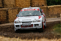 Dave Paveley driving his 1997 2 litre turbocharged 4 cylinder Mitsubishi Lancer Evo III on the Forest Rally stage during the Goodwood Festival of Speed 2016 at Goodwood, Chichester, England on 24 June 2016. Photo by David Horn / PRiME Media Images