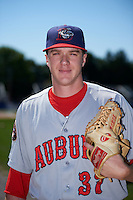 Auburn Doubledays relief pitcher Phil Morse (37) poses for a photo before a game against the Batavia Muckdogs on September 5, 2016 at Dwyer Stadium in Batavia, New York.  Batavia defeated Auburn 4-3. (Mike Janes/Four Seam Images)
