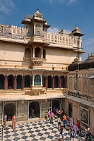 Indien, Udaipur, im City Palace.