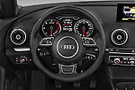Car pictures of steering wheel view of a 2015 Audi A3 Ambition 2 Door Convertible 2WD Steering Wheel