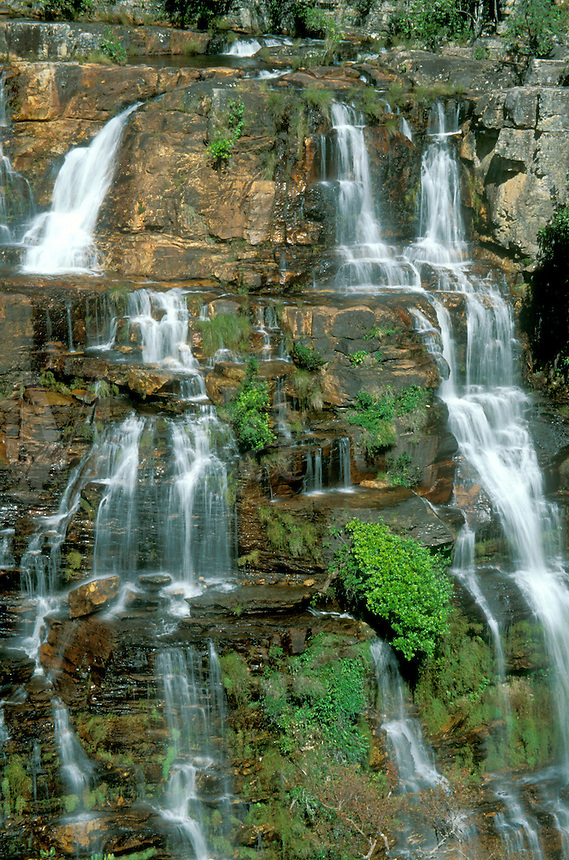 Part of waterfall Almecegas 1, Chapada dos Veadeiros, Goias, Brazil