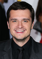LOS ANGELES, CA, USA - NOVEMBER 17: Josh Hutcherson arrives at the Los Angeles Premiere Of Lionsgate's 'The Hunger Games: Mockingjay, Part 1' held at Nokia Theatre L.A. Live on November 17, 2014 in Los Angeles, California, United States. (Photo by Xavier Collin/Celebrity Monitor)