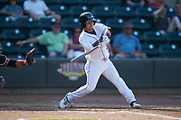 Nick Madrigal (3) of the Winston-Salem Dash at bat against the Carolina Mudcats at BB&T Ballpark on June 1, 2019 in Winston-Salem, North Carolina. The Mudcats defeated the Dash 6-3 in game one of a double header. (Brian Westerholt/Four Seam Images)