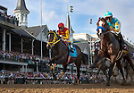 May 5, 2012. Bodiemeister and Trinniberg lead the field the 138th Kentucky Derby at Churchill Downs in Louisville, KY