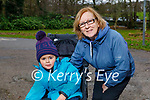 Eileen Fleming and little Aria Grace enjoying a stroll in the Killarney National park on Friday.