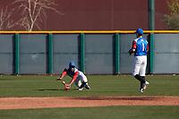 Demetrius Deramus (5) of William Penn Charter School in Philadelphia, Pennsylvania during the Baseball Factory All-America Pre-Season Tournament, powered by Under Armour, on January 14, 2018 at Sloan Park Complex in Mesa, Arizona.  (Freek Bouw/Four Seam Images)