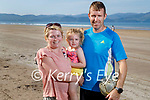 Enjoying the sun in Inch Beach on Sunday, l to r: Mary, Olivia and David Ladden from Keel