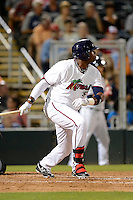 Fort Myers Miracle designated hitter Kennys Vargas #35 during a game against the Jupiter Hammerheads on April 9, 2013 at Hammond Stadium in Fort Myers, Florida.  Fort Myers defeated Jupiter 1-0.  (Mike Janes/Four Seam Images)