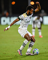 LAKE BUENA VISTA, FL - AUGUST 01: Jeremy Ebobisse #17 of the Portland Timbers turns away from pressure with the ball during a game between Portland Timbers and New York City FC at ESPN Wide World of Sports on August 01, 2020 in Lake Buena Vista, Florida.