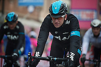 2013 Giro d'Italia.stage 12.Longarone - Treviso: 134km..Bradley Wiggins (GBR) coming over the finish line after losing more then 3 minutes on the competition..Even a Team SKY TTT train couldn't bring him back to the front of the race.