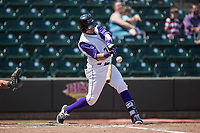 Ronald Bueno (7) of the Winston-Salem Dash at bat against the Buies Creek Astros at BB&T Ballpark on April 16, 2017 in Winston-Salem, North Carolina.  The Dash defeated the Astros 6-2.  (Brian Westerholt/Four Seam Images)
