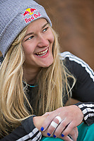 Portrait of Shauna Coxsey in Rocklands, South Africa<br />