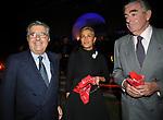CARLO E SILVIA DE BENEDETTI CON MARIO D'URSO<br /> FESTA RIUNIFICAZIONE  A VILLA ALMONE RESIDENZA AMBASCIATORE TEDESCO -  ROMA  OTTOBRE 2008