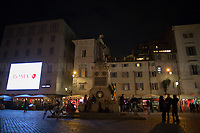 """Rome, Italy, 17th Feb, 2021. Today, the Assaciazione Nazionale del Libero Pensiero """"Giordano Bruno"""" (1.), with the participation of a representatives of Comune di Roma (Rome's Municipality) and Comune di Nola (Nola's Municipality), held the 421st Anniversary of the death of Giordano Bruno (2. 3.) in Rome's Campo de' Fiori (4.). On the 17th February 1600 the Dominican friar, Philosopher, mathematician, poet, occultist and cosmological theorist - after being charged of heresy by the Roman Inquisition due to be on denial of several core Catholic doctrines - was burned alive with his tongue in a gag in Rome's Campo dei Fiori. Father of the theories of the Infinite Universe and Worlds, «[…] Bruno's theories influenced 17th-century scientific and philosophical thought and, since the 18th century, have been absorbed by many modern philosophers. As a symbol of the freedom of thought, Bruno inspired the European Liberal movements of the 19th century, particularly the Italian Risorgimento (the movement for national political unity). […] his ethical ideas, in contrast to religious ascetical ethics, appeal to modern humanistic activism; and his ideal of religious and philosophical tolerance has influenced liberal thinkers […]» (5.).<br /> <br /> Footnotes & links:<br /> 1. http://www.periodicoliberopensiero.it/<br /> 2. https://bit.ly/2bBI5th (Wikipedia.org, ENG) <br /> 3. https://bit.ly/2Vb72mI (Treccani.it, ITA)<br /> 4. https://bit.ly/1OU5RzD (Wikipedia.org, ENG)<br /> 5. https://bit.ly/2BvzNQw (Britannica.com, ENG)<br /> 17.02.2019 - Giordano Bruno Anniversary in Rome's Campo de' Fiori (Foto / Video): http://bit.do/fNMSg & https://vimeo.com/318849723"""