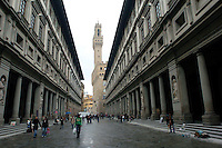 Near the Duomo in Florence, Italy March 1, 2006. (Photo by Alan Greth)