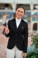WELLINGTION, FL - FEBRUARY 25: (NEW YORK POST ONLY - NEW YORK DAILLIES OUT) - (EXCLUSIVE COVERAGE) SATURDAY NIGHT LIGHTS: $380,000 Suncast Grand Prix CSI 5. The Winter Equestrian Festival (WEF) is the largest, longest running hunter/jumper equestrian event in the world held at the Palm Beach International Equestrian Center. Georgina Leigh Bloomberg is the younger daughter of former New York City Mayor and billionaire Michael Bloomberg and Susan Brown. She is a professional equestrian, currently sponsored by Ariat International on February 25, 2017  in Wellington, Florida.<br /> <br /> People:  Georgina Bloomberg<br /> <br /> Transmission Ref:  FLXX