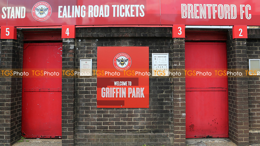 General view of the entrance to Brentford FC via the  Ealing Road Turnstiles during Brentford vs Barnsley, Sky Bet EFL Championship Football at Griffin Park on 22nd July 2020
