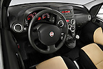 High angle dashboard view of a 2009 Fiat Panda 5 Door 4x4