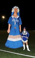 AA Gent dames - Club Brugge dames :<br /> reus van AA Gent met de mascotte<br /> foto Dirk / Nikonpro.be