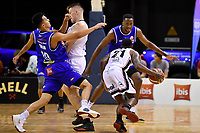 Kenneth Tuffin of the Wellington Saints during the round one NBL match between the Wellington Saints and the Canterbury Rams at TSB Bank Arena, Wellington, New Zealand on Friday 30 April 2021.<br /> Photo by Masanori Udagawa. <br /> www.photowellington.photoshelter.com