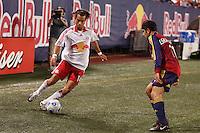 New York Red Bulls midfielder (14) Joe Vide is marked by Real Salt Lake forward (11) Alecko Eskandarian. The NY Red Bulls and Real Salt Lake played to a 2-2 tie in an MLS regular season match at Giants Stadium, East Rutherford, NJ, on September 29, 2007.