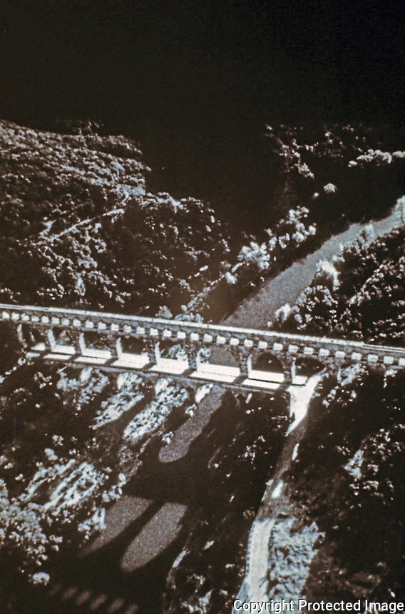 Aerial view of Pont du Gard aqueduct, Early 1st c. CE