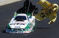Jul. 23, 2011; Morrison, CO, USA: NHRA funny car driver Mike Neff during qualifying for the Mile High Nationals at Bandimere Speedway. Mandatory Credit: Mark J. Rebilas-