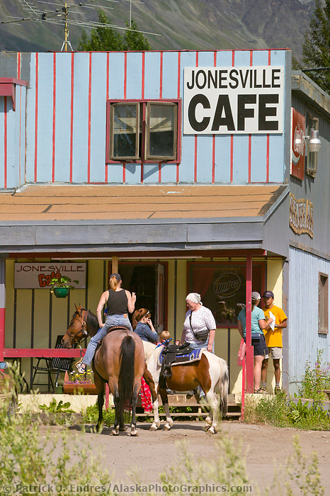 Jonesville cafe in Sutton, Alaska, on the Glenn Highway