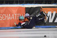 SCHAATSEN: HEERENVEEN: 02-01-2020, IJsstadion Thialf, Shorttrack, NK Allround Shorttrack, Koen Slootweg en Sjinkie Knegt, ©foto Martin de Jong
