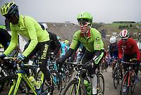 Simon Clarke (AUS/Cannondale) up the Cote de Saint-Roche (1850m/6.3%) in Houffalize<br /> <br /> 102nd Liège-Bastogne-Liège 2016
