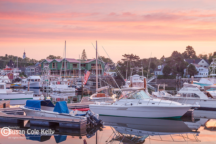 Sunrise over Kennebunkport and the Kennebunk River in Kennebunkport, Maine, USA